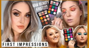 my thoughts on the RAW BEAUTY KRISTI palette 💬 and other first impressions