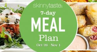 7 Day Healthy Meal Plan (Oct 26-Nov 1)