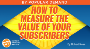 How to Measure the Value of Your Subscribers