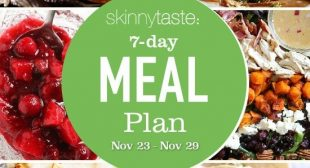 7 Day Healthy Meal Plan (Nov 23-29)