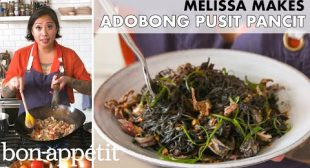 Melissa Makes Adobong Pusit Pancit (Adobo Squid Noodles) | From the Home Kitchen | Bon Appétit