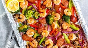 Shrimp and Andouille Sheet Pan Dinner
