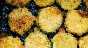 Air Fryer Crispy Parmesan Zucchini Chips
