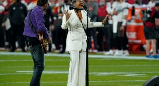 Jazmine Sullivan's White-Hot Super Bowl Look Did NOT Have To Slay So Hard