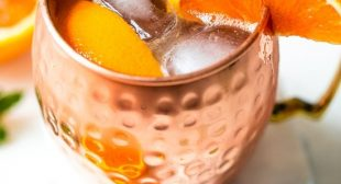 Orange Moscow Mule Mocktail