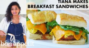 Tiana Makes the Ultimate Breakfast Sandwich | From the Home Kitchen | Bon Appétit