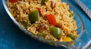 Easy capsicum rice recipe   Capsicum bath