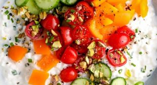 Savory Cottage Cheese Bowl