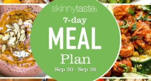 7 Day Healthy Meal Plan (September 20-26)